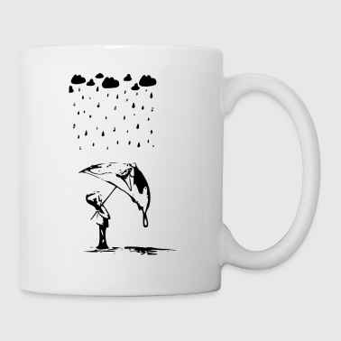 boy in the rain - Mug