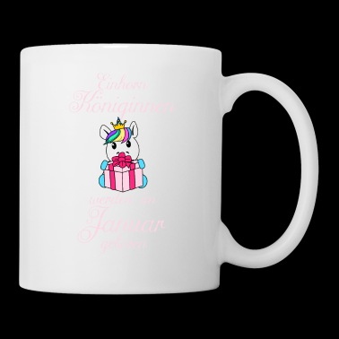 Unicorn queens are born in January - Mug