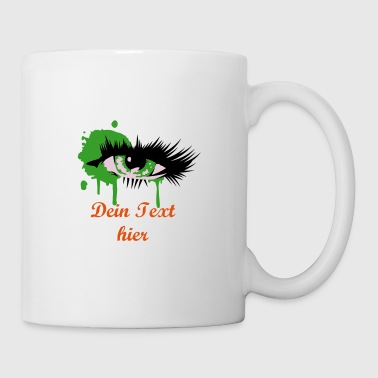 A colored eye with long eyelashes - Mug