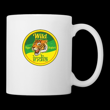 Wild India Tiger Safari / Cooles Tiger Design - Tasse