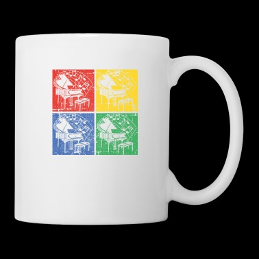 Piano pop art - Mug blanc