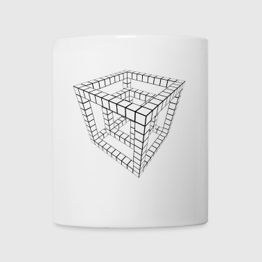 Grid Dice svart transparent. - Mugg