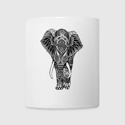 Lycka Mandala Elephant Designer Animal Love - Mugg