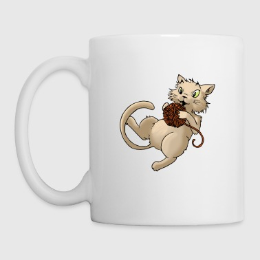 Cat wool ball of wool Kitty Animal Pets - Mug