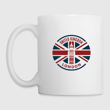 Royaume-Uni - Londres - Union Jack Flag - Mug blanc