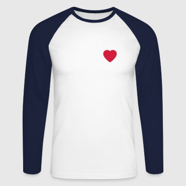 Heart Round - Men's Long Sleeve Baseball T-Shirt