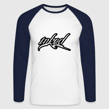 inked - tattoo - Men's Long Sleeve Baseball T-Shirt