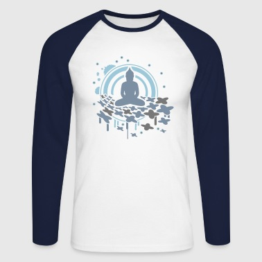 meditation - Men's Long Sleeve Baseball T-Shirt