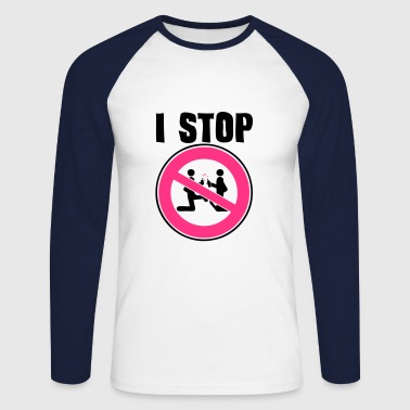 i stop sexual act2 panneau interdiction - T-shirt baseball manches longues Homme
