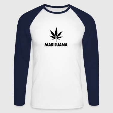 marijuana with leaf - T-shirt baseball manches longues Homme