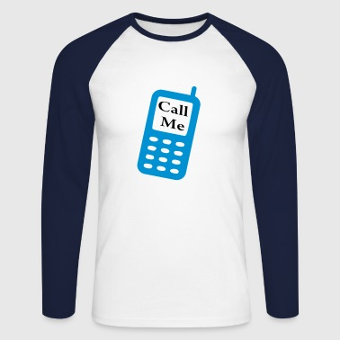 call me mobile - T-shirt baseball manches longues Homme