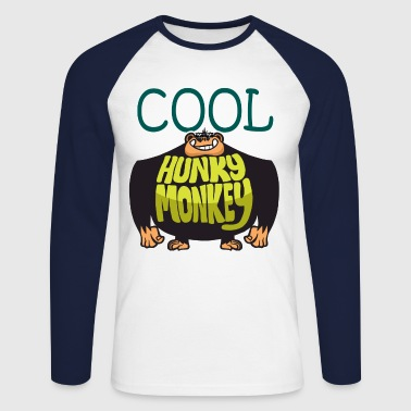 Cool Hunky Monkey - Men's Long Sleeve Baseball T-Shirt