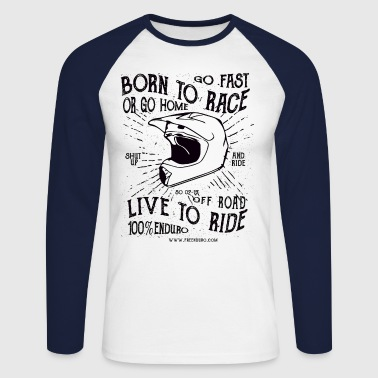 BORN TO RACE  - T-shirt baseball manches longues Homme