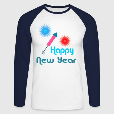 Happy New Year - Mannen baseballshirt lange mouw