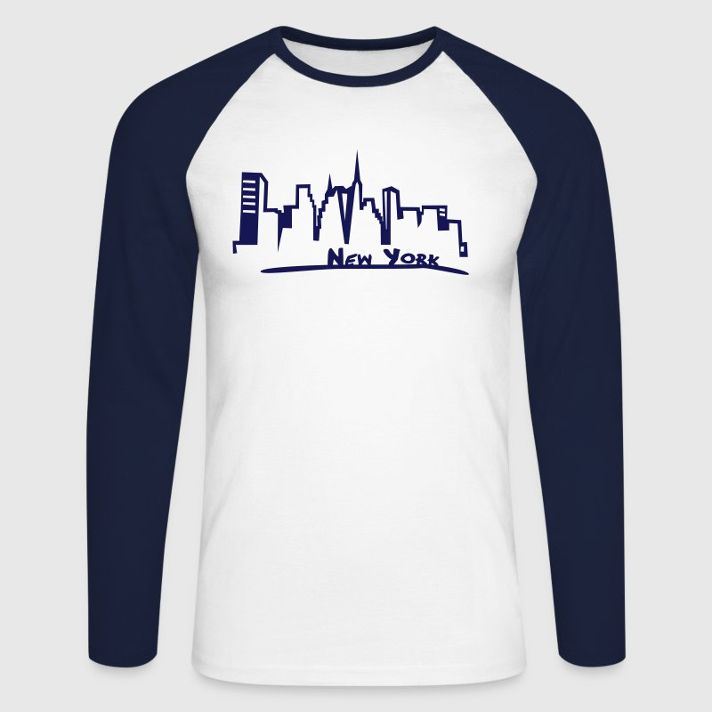 New York - T-shirt baseball manches longues Homme