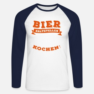 bier kaltstellen ist auch irgendwie kochen m nner t shirt. Black Bedroom Furniture Sets. Home Design Ideas