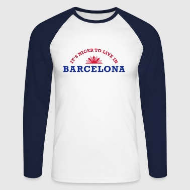 barcelona - Men's Long Sleeve Baseball T-Shirt