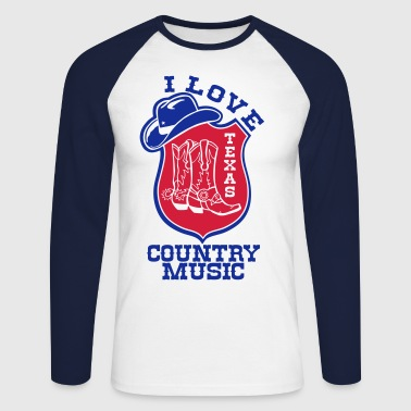 i love country music - T-shirt baseball manches longues Homme