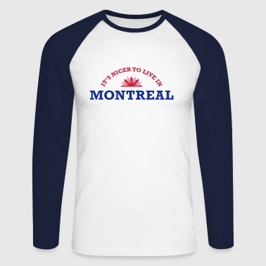 montreal - Men's Long Sleeve Baseball T-Shirt
