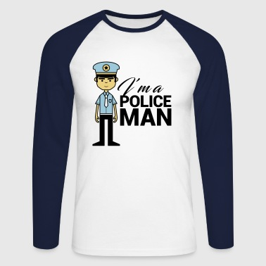 Policeman POLICEMAN - Men's Long Sleeve Baseball T-Shirt