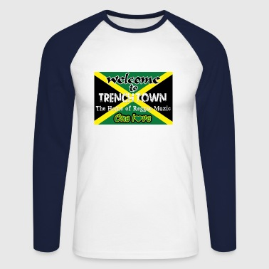welcome to trench town the home of reggae muzic - Maglia da baseball a manica lunga da uomo