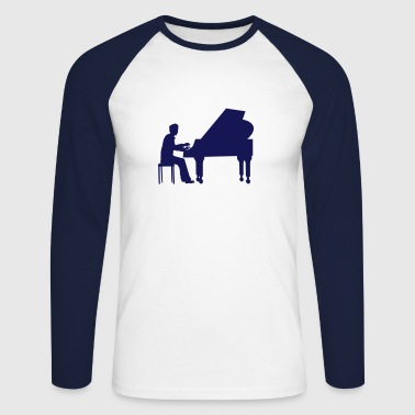 piano player - Men's Long Sleeve Baseball T-Shirt