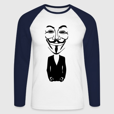 anonymous mask masque5 - T-shirt baseball manches longues Homme