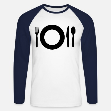 Meal meal - Men's Long Sleeve Baseball T-Shirt