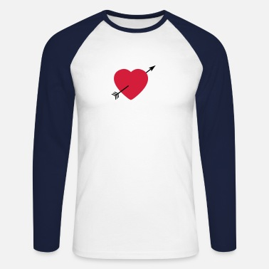 Cuore Heart round with arrow - T-shirt baseball manches longues Homme