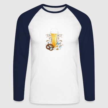 Wheat beer with snack - Men's Long Sleeve Baseball T-Shirt