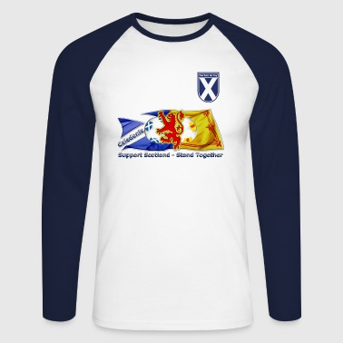 Saltire and Lion Rampant Tartan Army - Men's Long Sleeve Baseball T-Shirt