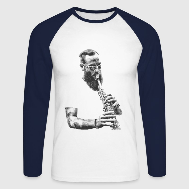saxophoniste - T-shirt baseball manches longues Homme