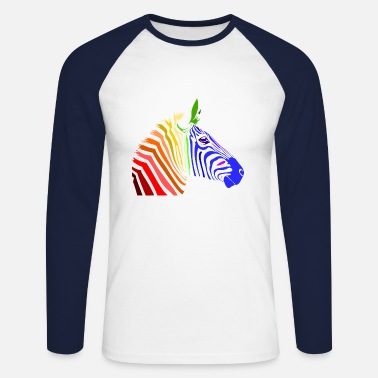 Zebra Zebra; Punk Zebra; Rainbow Zebra - Men's Long Sleeve Baseball T-Shirt