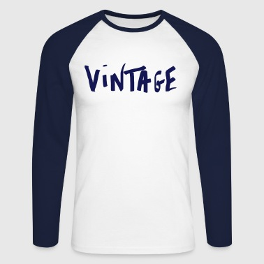 Vintage - T-shirt baseball manches longues Homme