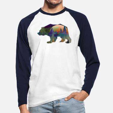 Forest Dweller Bear forest dwellers - Men's Longsleeve Baseball T-Shirt