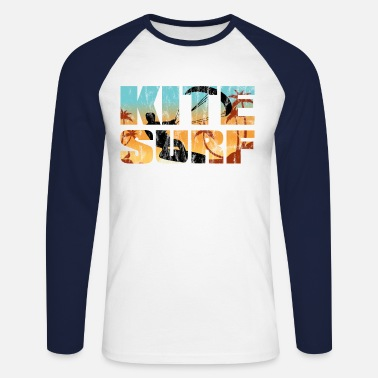 Surf Kite Surf Kiteboard Look Washed Surfer Sports nautiques - T-shirt manches longues baseball Homme