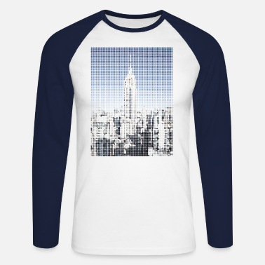 Building Empire State Buliding - Men's Longsleeve Baseball T-Shirt