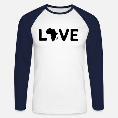 Africa Africa Love - Men's Longsleeve Baseball T-Shirt