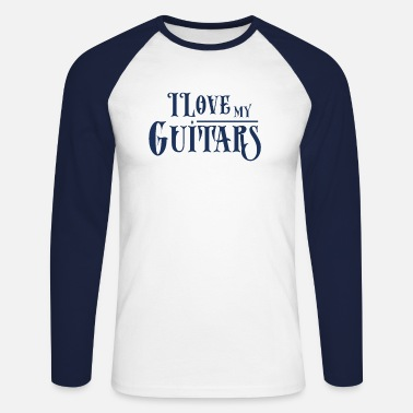Guitare Guitare guitare guitare guitare - T-shirt manches longues baseball Homme