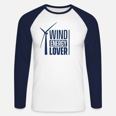 Wind Wind turbine wind power wind energy wind turbine wind - Men's Longsleeve Baseball T-Shirt