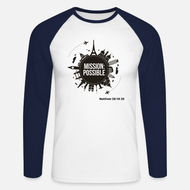 Mission possible Matthew 28 - T-shirt manches longues baseball Homme