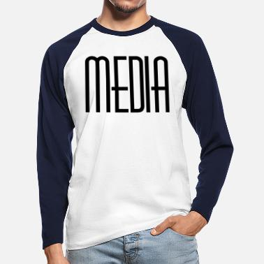 Media Media - Men's Longsleeve Baseball T-Shirt