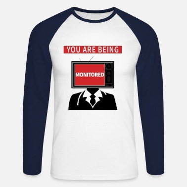 Monitoring monitoring - Men's Longsleeve Baseball T-Shirt