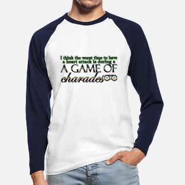 Charade Game of Charades 53 G - Men's Longsleeve Baseball T-Shirt