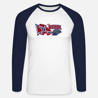 The rebel flag - Men's Longsleeve Baseball T-Shirt