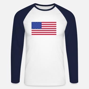 a05cc470800 Amerikanska flaggan T-shirt herr | Spreadshirt