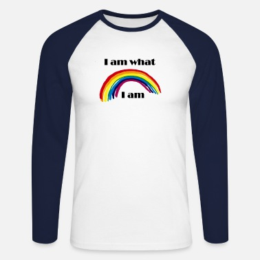I am what I am - Men's Longsleeve Baseball T-Shirt