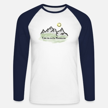 Mountains Mountain mountaineering mountains mountain world - Men's Longsleeve Baseball T-Shirt