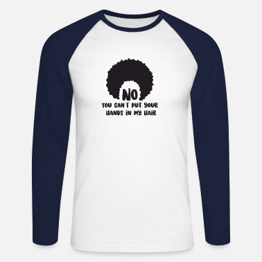 Afro Afro hair funny text - Men's Longsleeve Baseball T-Shirt