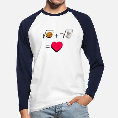 Pull The Root Cookies and cat Cat and biscuits alike love - Men's Longsleeve Baseball T-Shirt